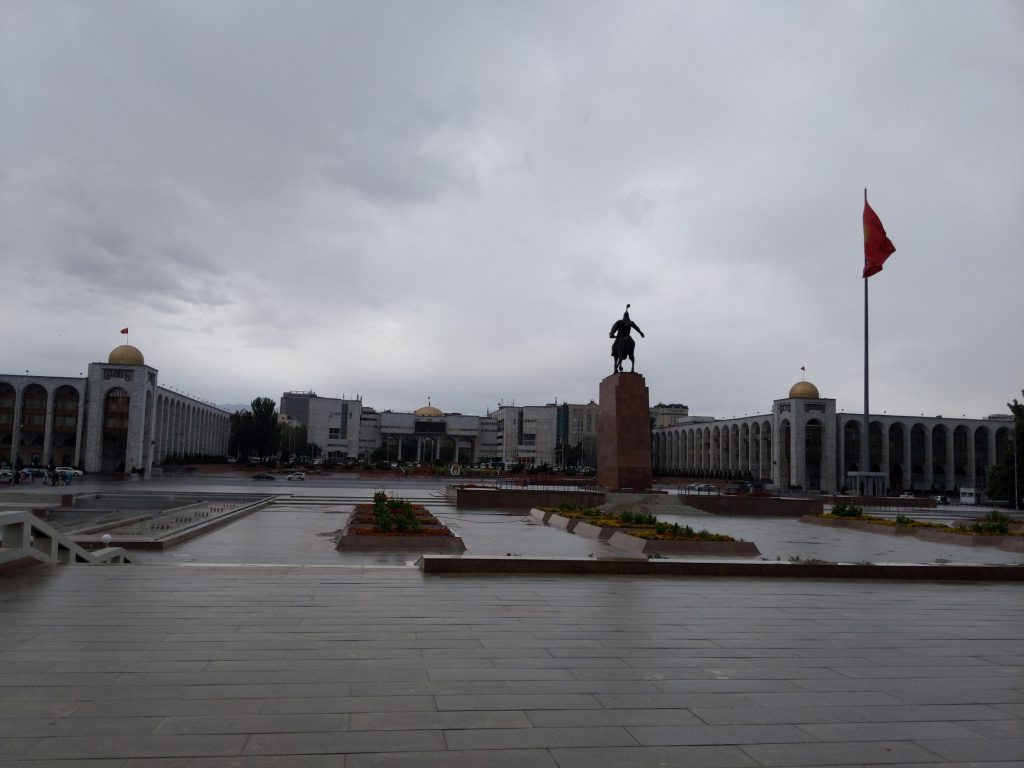 Figure 3: A square in the center of the city of Bishkek